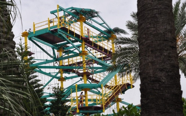 Ropes Course and Zip Line at Moody Gardens