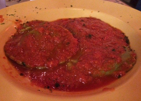 Spinach Ravioli at Romaros Pizza Houston