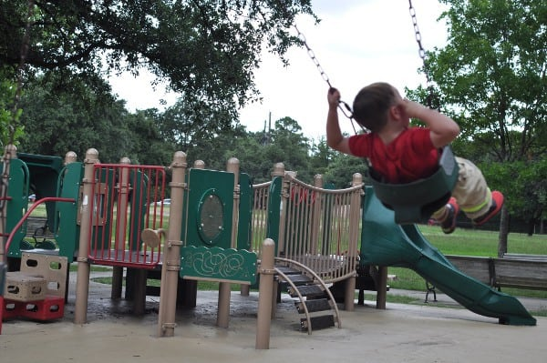 Swings and Small Playground at Grady Park