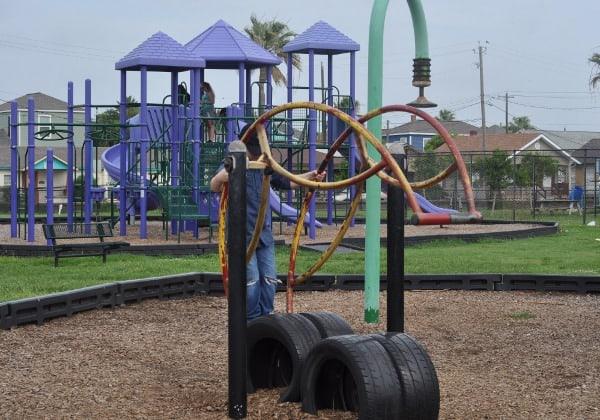 Teeter Totter Menard Park in Galveston