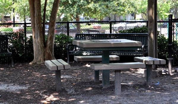 West University Spark Park Picnic Tables