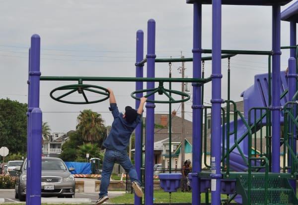 Wheel Monkey Bars at Menard Park Galveston