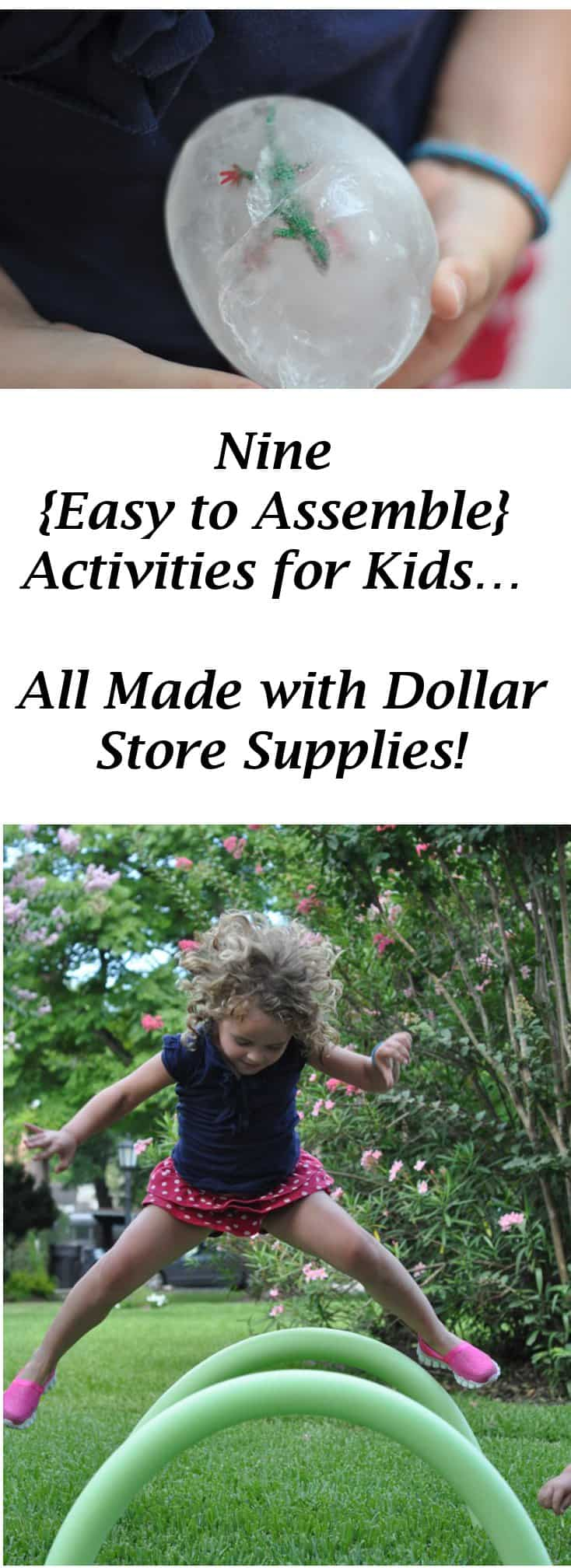 9 {Easy to Assemble} Activities for Kids… All Made with Dollar Store Supplies