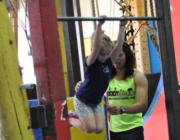Bar at Iron Sports America Ninja Warrior Gym BigKidSmallCity