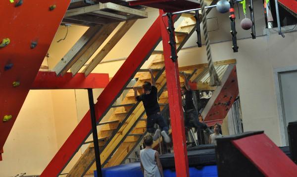 Devil Steps at Iron Sports America Ninja Warrior Gym BigKidSmallCity