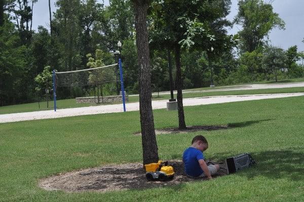 Fall Creek Ballfield Parks Playing Trucks