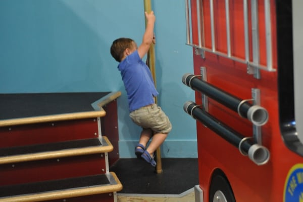 Fireman Pole at The Woodlands Childrens Museum