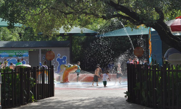 Houston Zoo Splashpad from African Forest