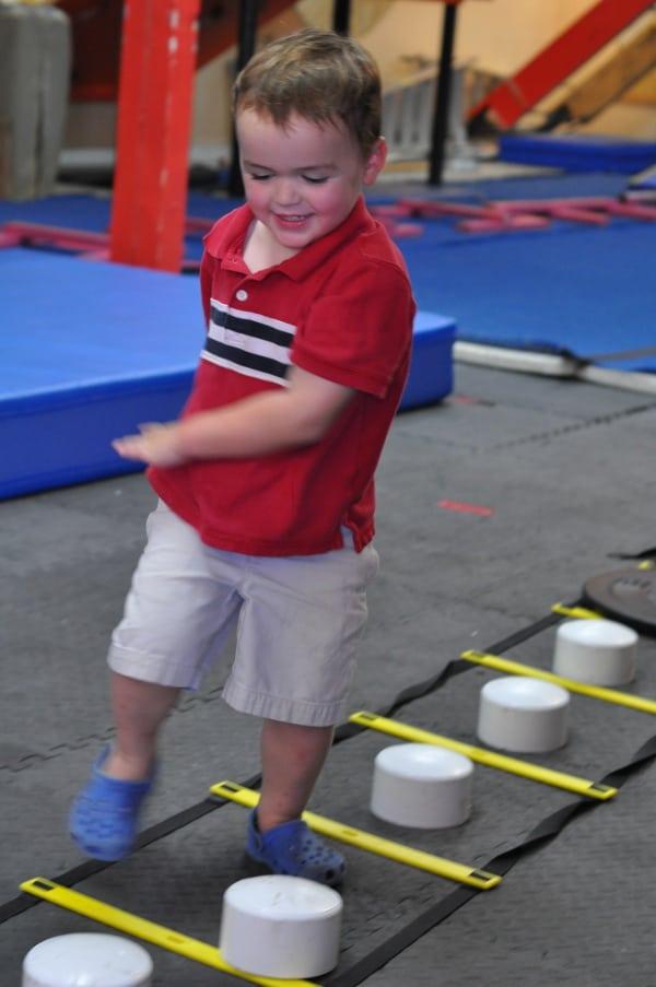 James at Iron Sports American Ninja Warrior Gym BigKidSmallCity