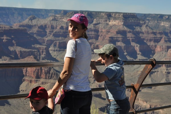 Jill and Boys at Grand Canyon Arizona