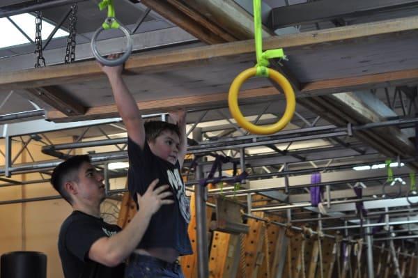 Joe at Iron Sports America Ninja Warrior Gym BigKidSmallCity