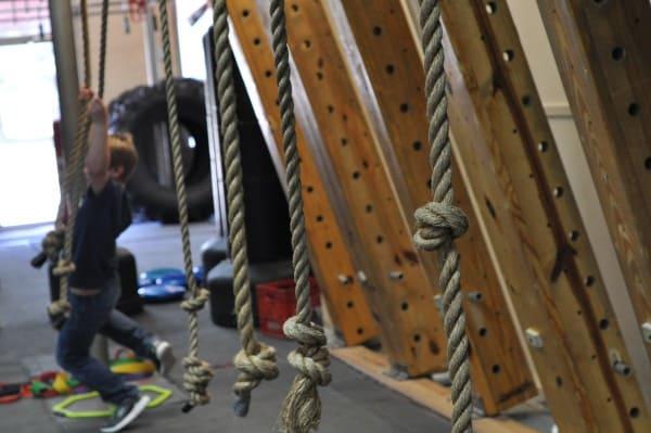 Joe on Ropes at Iron Sports America Ninja Warrior Gym BigKidSmallCity