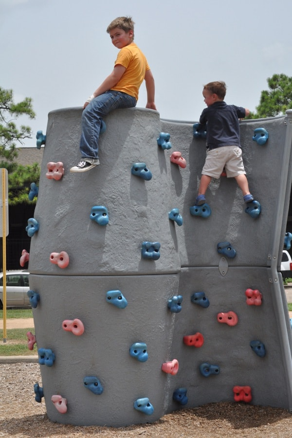 Rock Wall at Kid Fit Park Nottingham Park Houston