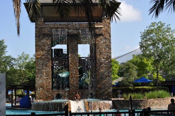 The Woodlands Resort Slides and Waterfall BigKidSmallCity
