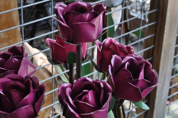 Wabash Feed Store Metal Flowers