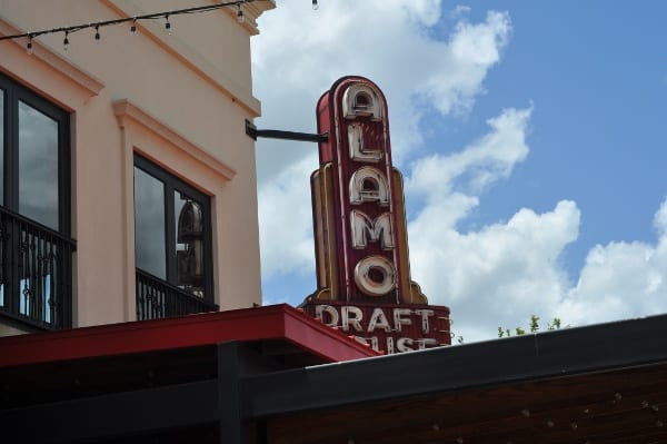 Alamo Draft House Sign in Vintage Park