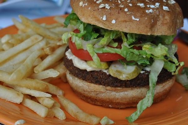 Barnabys Cafe Museum District Falafel Burger