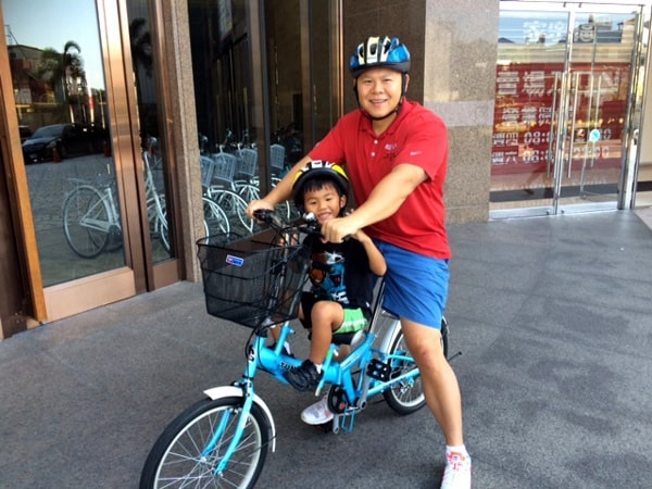 Bicycles for families to enjoy the city with kids in Taipei Taiwan BigKidSmallCity