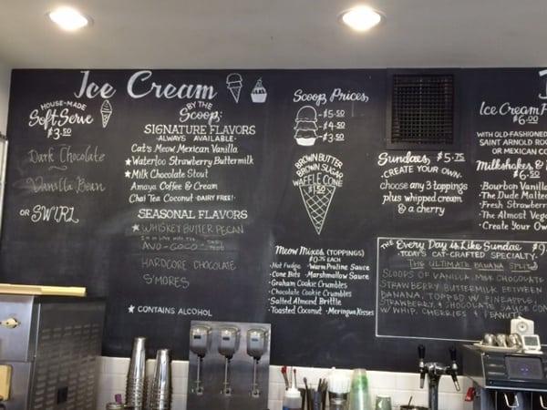 Fat Cat Creamery Menu Board