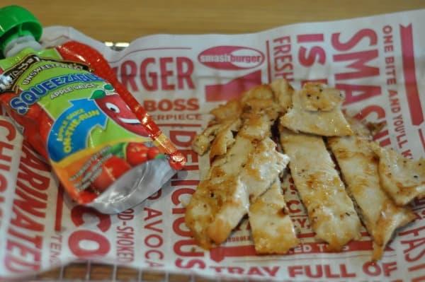 Grilled Chicken Strips Kids Meal at Smashburger Houston Heights BigKidSmallCity