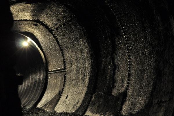 Lockport New York Cave Tour Underground Pipe
