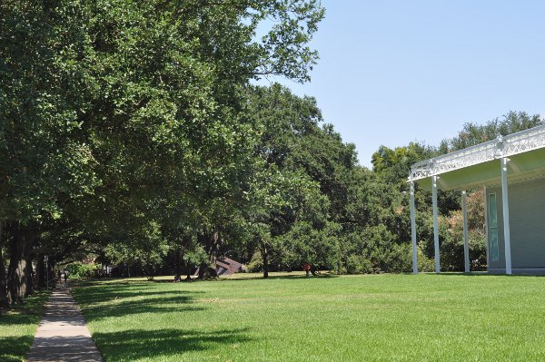Menil Campus Looking at Red Swing Park