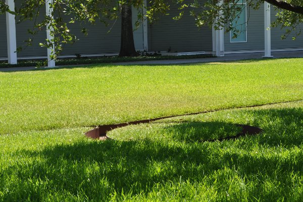 Menil Collection Maze in Yard