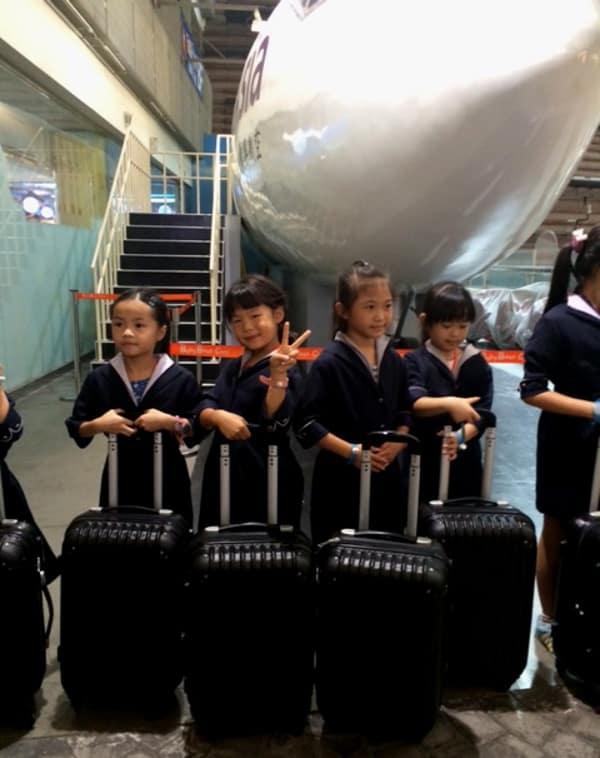 Playing Air Hostess in Taipei BigKidSmallCity