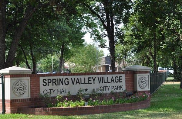 Spring Valley Village City Park Sign