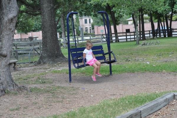 Spring Valley Village Park Swinging Bench
