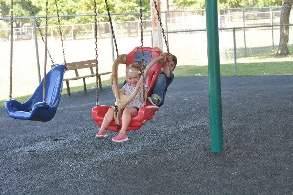 Wood Bend Spark Park Swings