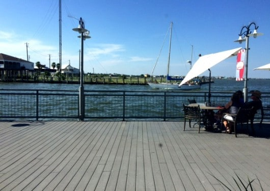 View of Water from Landrys Seafood Kemah