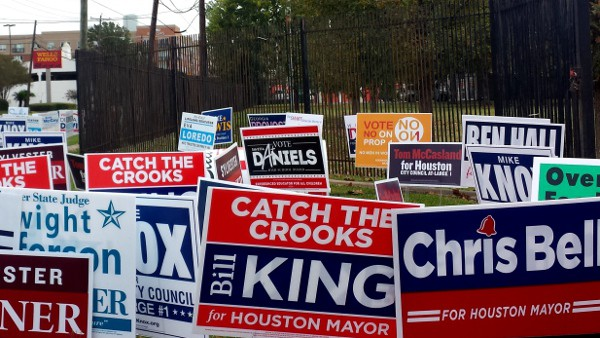 City of Houston Voting Signs