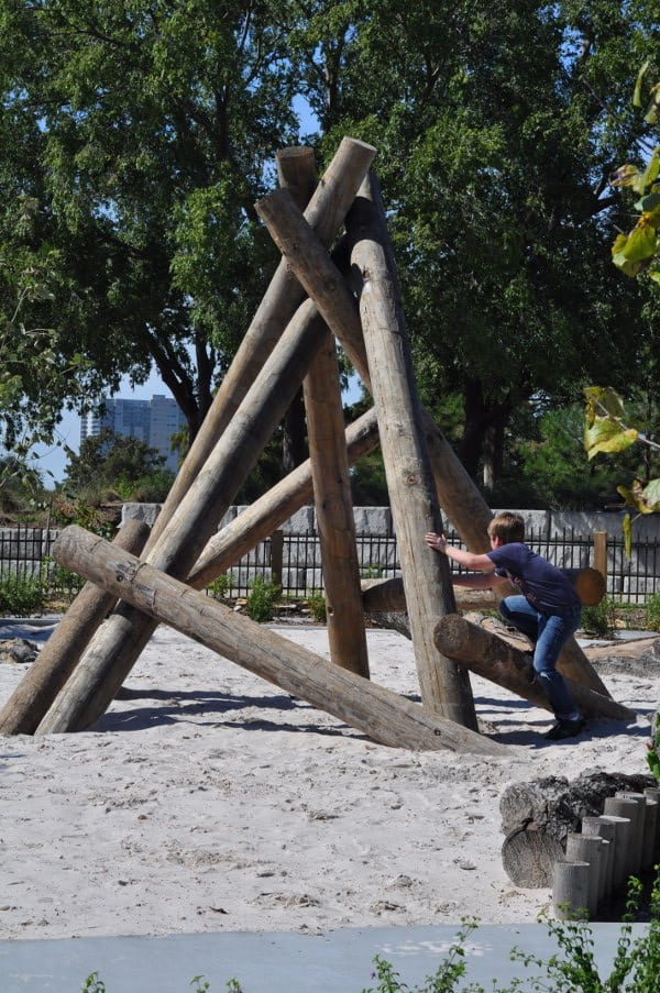Climbing Structure at Fish Family Play Area Buffalo Bayou Park1