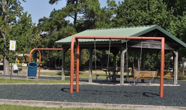 Foote Park Baytown Swings and Picnic Tables
