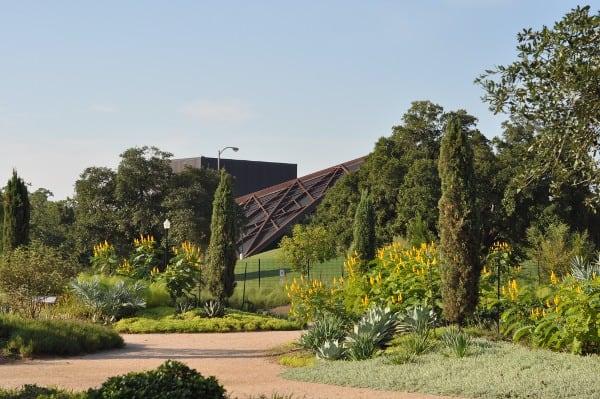 Hermann Park Centennial Garden View of Miller Outdoor Theatre