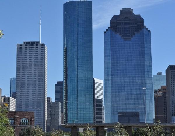 Houston Skyline from Sabine Street Park at Buffalo Bayou Park