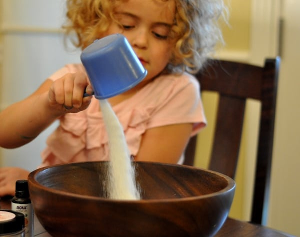 Pouring Sugar for Imperial Sugar Sugar Scrub