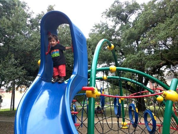 Slide at Baldwin Park