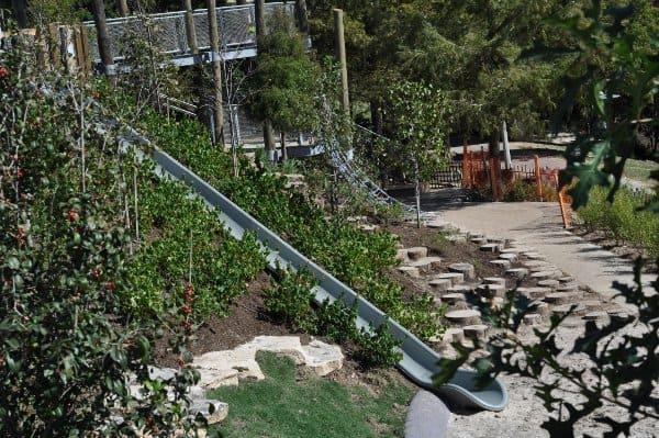 Slide at Fish Family Play Area Buffalo Bayou Park