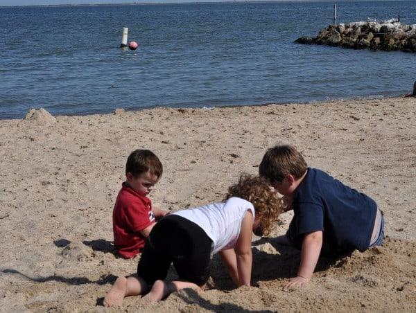 La Porte Beach Sylvan Beach Park La Porte Digging in Sand