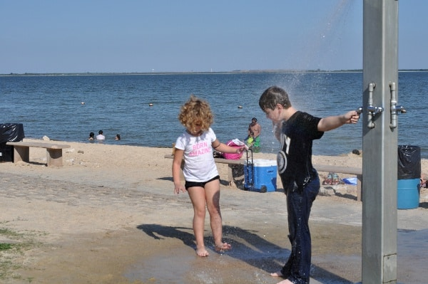 Sylvan Beach Park La Porte Shower
