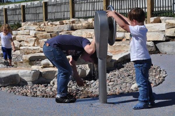 Water Feature at Fish Family Play Area Buffalo Bayou Park