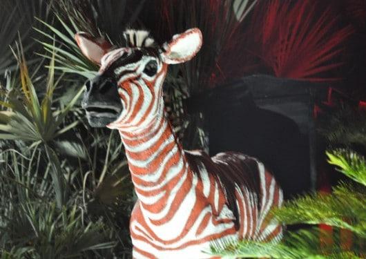 Houston Zoo Lights Red Zebra