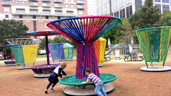 Spinning Los Trompos at Discovery Green