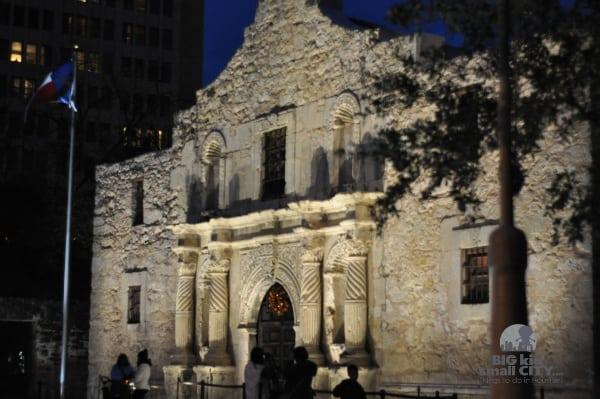 Alamo San Antonio at Night