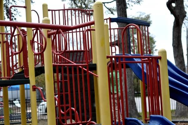 Evergreen Park in Bellaire Ninja Warrior Playground