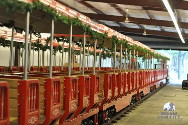 Hermann Park Train Barn with Holiday Train