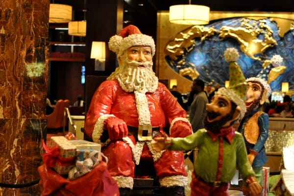 Hilton Americas Houston Christmas Display