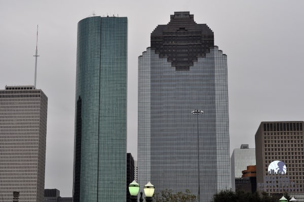 Houston Skyline from Sabine Street Bridge